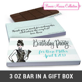 Deluxe Personalized Vogue Chocolate Bar in Gift Box (3oz Bar)