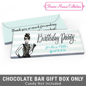 Deluxe Personalized Champagne Bottle Birthday Candy Bar Cover