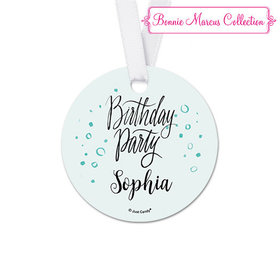 Personalized Sunny Soiree Birthday Round Favor Gift Tags (20 Pack)