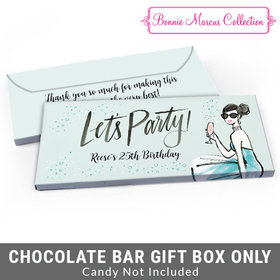 Deluxe Personalized Sunny Soiree Birthday Candy Bar Favor Box