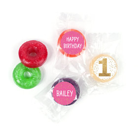 Personalized Bonnie Marcus Golden One Birthday LifeSavers 5 Flavor Hard Candy