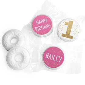 Personalized Bonnie Marcus Golden One Birthday Life Savers Mints