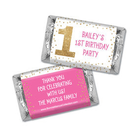 Personalized Bonnie Marcus 1st Birthday Golden One Mini Wrappers Only