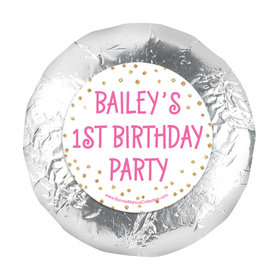 """Personalized Golden One First Birthday 1.25"""" Stickers (48 Stickers)"""