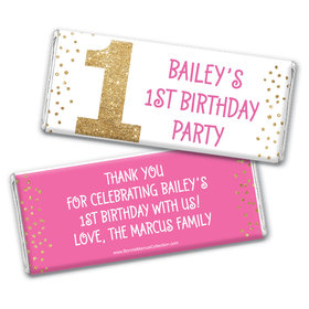 Bonnie Marcus Personalized Gold One 1st Birthday Chocolate Bars