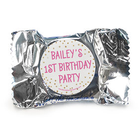 Personalized Golden One First Birthday York Peppermint Patties