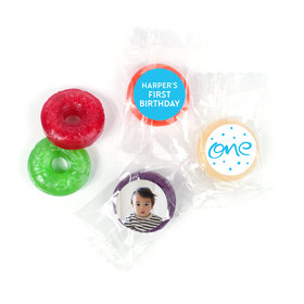 Personalized Bonnie Marcus Doodle One Birthday LifeSavers 5 Flavor Hard Candy