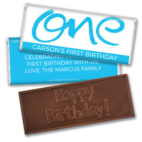 Bonnie Marcus Personalized Doodle One 1st Birthday Embossed Chocolate Bars