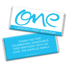 Bonnie Marcus Personalized Doodle One 1st Birthday Chocolate Bar Wrappers