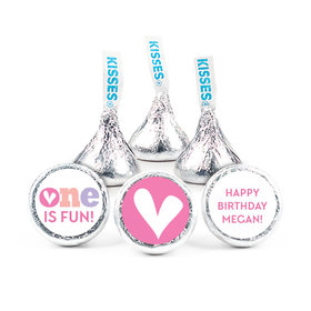 """Personalized Bonnie Marcus Adorable One Birthday 3/4"""" Sticker (108 Stickers)"""