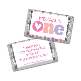 Personalized Bonnie Marcus 1st Birthday Adorable One Mini Wrappers Only