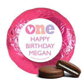 Personalized Adorable One First Birthday Milk Chocolate Covered Oreos