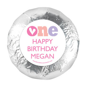 "Personalized Adorable One First Birthday 1.25"" Stickers (48 Stickers)"