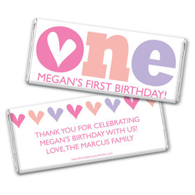 Bonnie Marcus Personalized Adorable One 1st Birthday Chocolate Bar Wrappers
