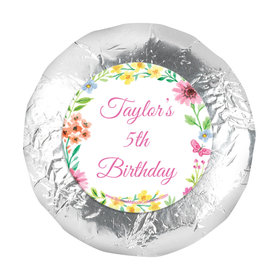 "Personalized Bonnie Marcus Birthday Blossom 1.25"" Sticker (48 Stickers)"
