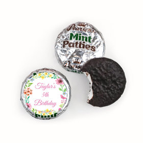 Personalized Bonnie Marcus Birthday Blossom Pearson's Mint Patties