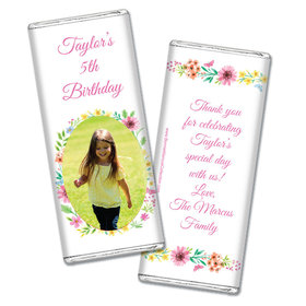 Personalized Bonnie Marcus Birthday Blossom Photo Chocolate Bar Wrappers