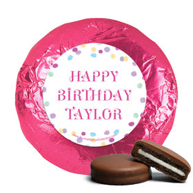 Personalized Bonnie Marcus Birthday Sprinkling Confetti Chocolate Covered Oreos (24 Pack)