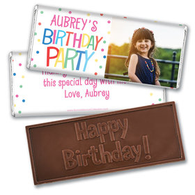 Personalized Bonnie Marcus Birthday Sweet Celebration Embossed Chocolate Bar & Wrapper