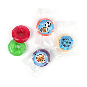 Personalized Bonnie Marcus Airbrush Athletics Birthday LifeSavers 5 Flavor Hard Candy