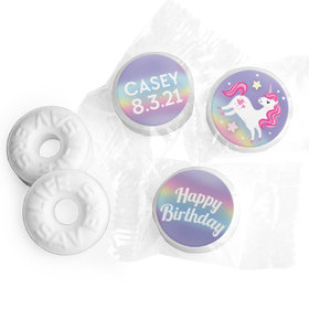 Personalized Bonnie Marcus Unicorn Dreams Birthday Life Savers Mints