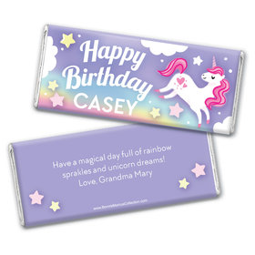 Personalized Bonnie Marcus Birthday Unicorn Dreams Chocolate Bar Wrappers
