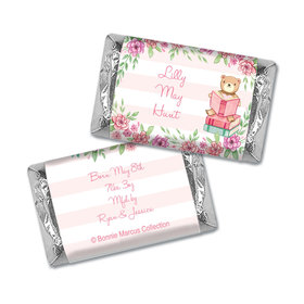 Story Time Girl Birth Announcement Personalized Miniature Wrappers