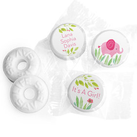 Safari Snuggles Girl Personalized LIFE SAVERS Mints Assembled