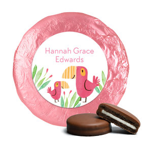 Safari Snuggles Birth Announcement Milk Chocolate Covered Oreos Assembled
