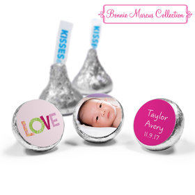 Bonnie Marcus Collection Personalized HERSHEY'S KISSES Candy Love Girl Birth Announcement (50 Pack)