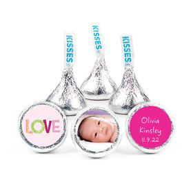 "Bonnie Marcus Collection Personalized 3/4"" Sticker Love Girl Birth Announcement"