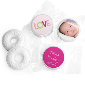 Bonnie Marcus Collection Personalized LIFE SAVERS Mints Love Girl Birth Announcement