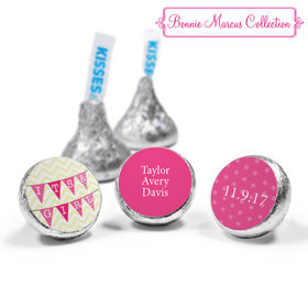 Bonnie Marcus Collection Personalized HERSHEY'S KISSES Candy It's a Girl Chevron Birth Announcement (50 Pack)