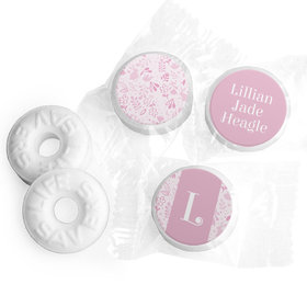 Bonnie Marcus Collection Personalized LIFE SAVERS Mints Pink Animal Birth Announcement