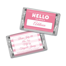 Bonnie Marcus Collection Personalized Chocolate Bar Name Tag Girl Birth Announcement