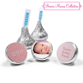Bonnie Marcus Collection Personalized HERSHEY'S KISSES Candy Baby Photo Birth Announcement (50 Pack)