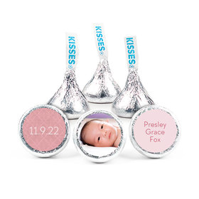 """Bonnie Marcus Collection Personalized 3/4"""" Sticker Baby Photo Birth Announcement"""