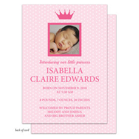 Bonnie Marcus Collection Personalized It's a Girl Crown Birth Announcement