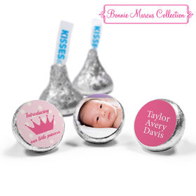 Bonnie Marcus Collection Personalized HERSHEY'S KISSES Candy Polka Dots & Crown Girl Birth Announcement (50 Pack)