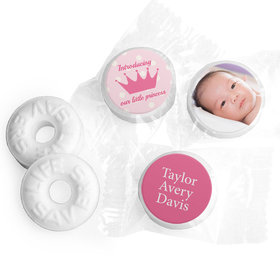 Bonnie Marcus Collection Personalized LIFE SAVERS Mints Polka Dots & Crown Girl Birth Announcement