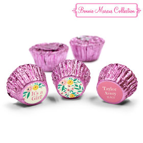 Bonnie Marcus Collection Personalized Reeses It's a Girl Flowers Birth Announcement (50 Pack)