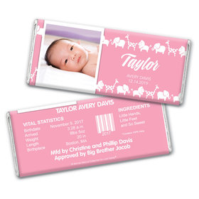 Bonnie Marcus Collection Personalized Animal Parade Girl Birth Announcement
