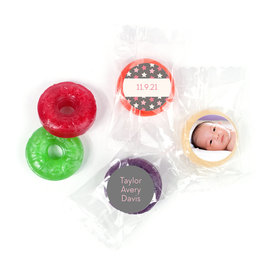 Bonnie Marcus Personalized LifeSavers 5 Flavor Hard Candy Star Girl Birth Announcement (300 Pack)