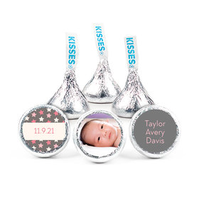 """Bonnie Marcus Collection Personalized 3/4"""" Sticker Star Girl Birth Announcement"""