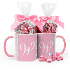 Personalized Baby Girl Announcement Hearts 11oz Mug with Hershey's Kisses
