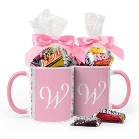 Personalized Baby Girl Announcement Hearts 11oz Mug with Hershey's Miniatures