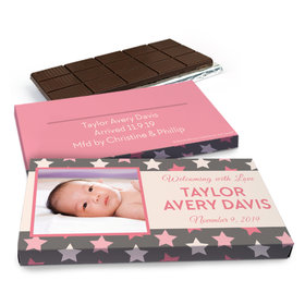 Deluxe Personalized Star Girl Chocolate Bar in Gift Box (3oz Bar)