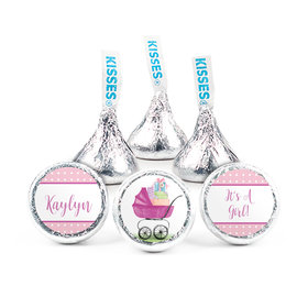 Personalized Girl Birth Announcement Rockabye Baby Hershey's Kisses (50 pack)