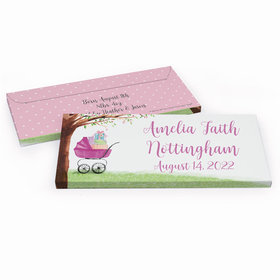 Deluxe Personalized Rockabye Baby Birth Announcement Candy Bar Favor Box