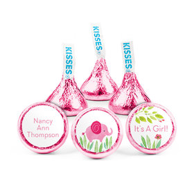 Personalized Girl Birth Announcement Safari Snuggles Hershey's Kisses (50 pack)